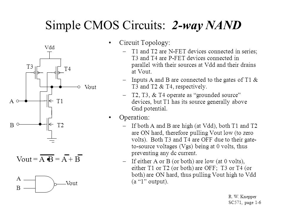 Simple CMOS Circuits: 2-way NAND