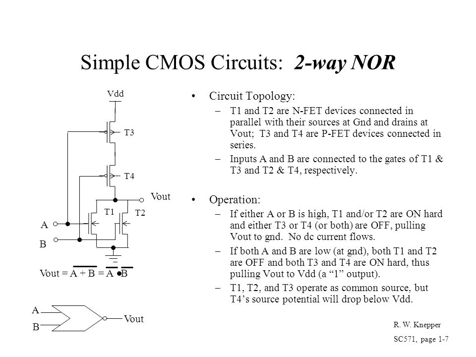 Simple CMOS Circuits: 2-way NOR