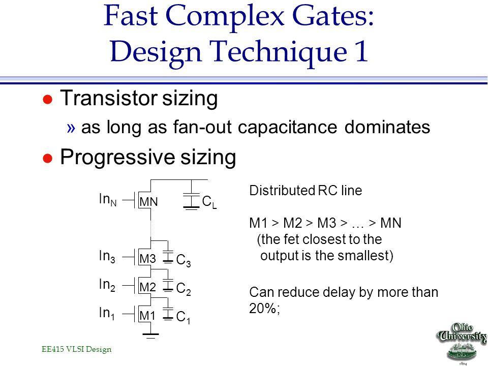 Fast Complex Gates: Design Technique 1
