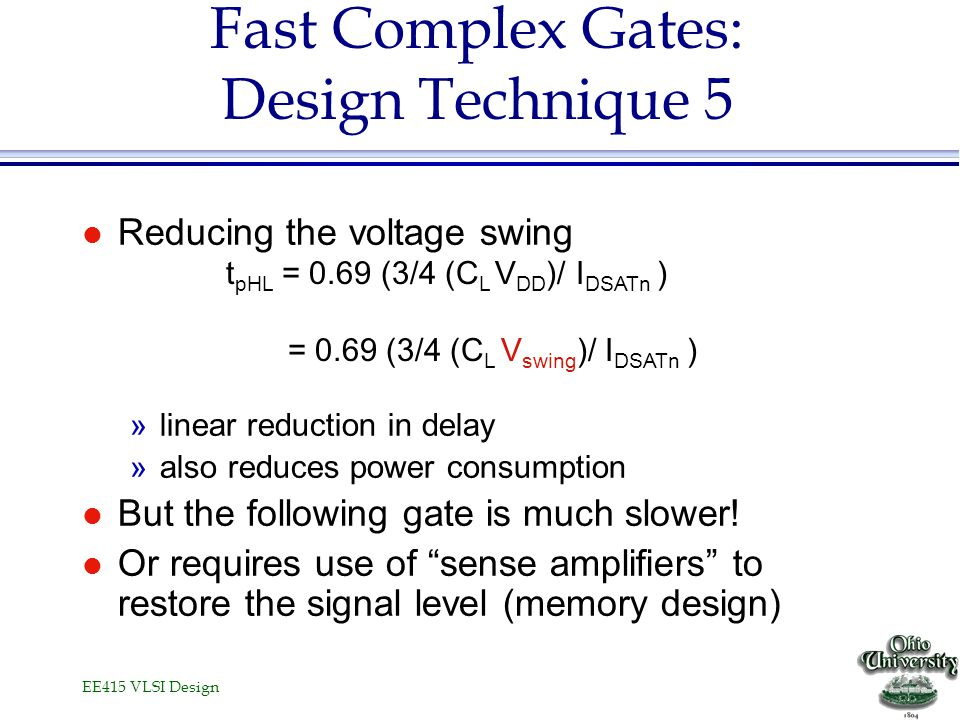 Fast Complex Gates: Design Technique 5