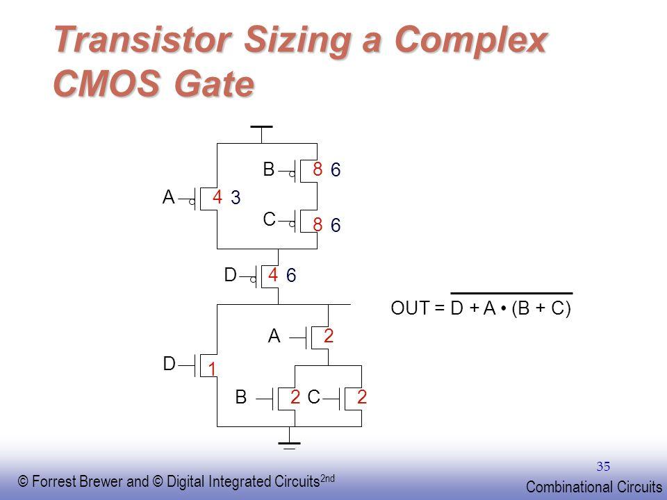 Transistor Sizing a Complex CMOS Gate