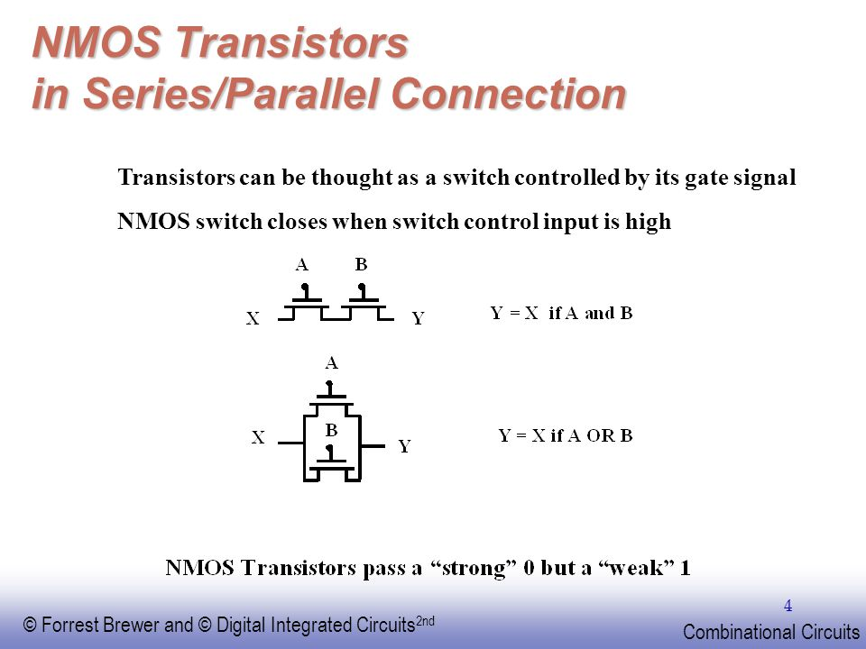 NMOS Transistors in Series/Parallel Connection