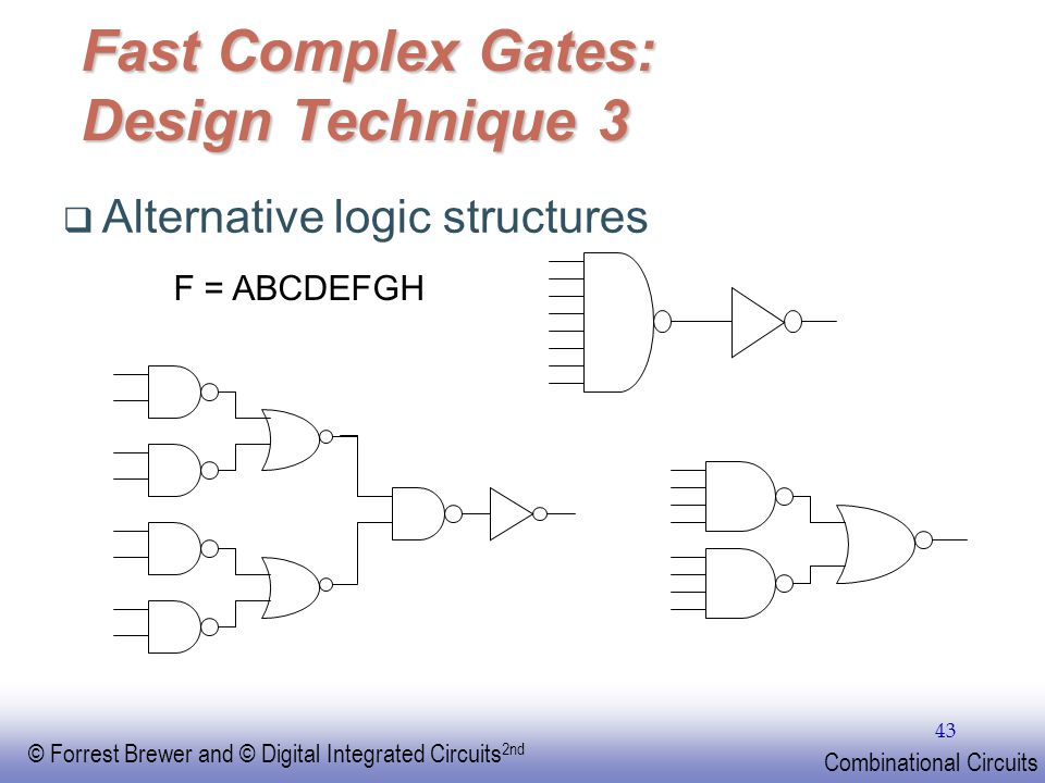 Fast Complex Gates: Design Technique 3