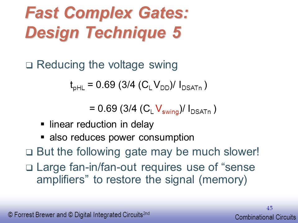 Fast Complex Gates: Design Technique 5