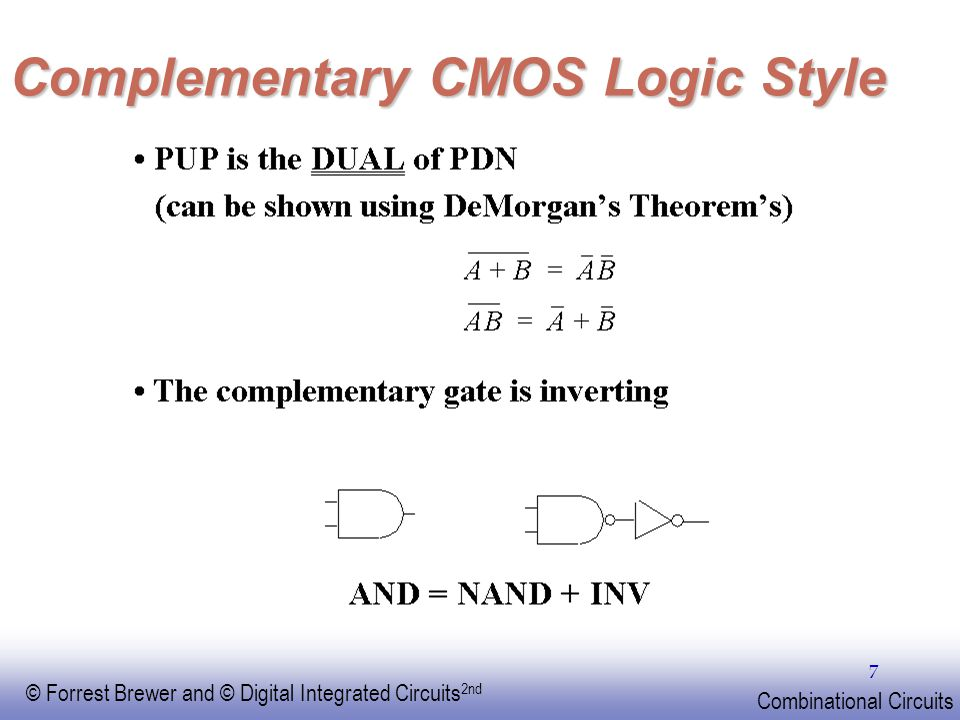 Complementary CMOS Logic Style