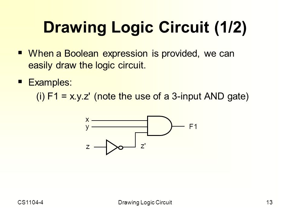 Drawing Logic Circuit (1/2)