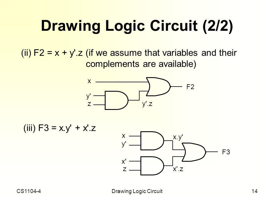 Drawing Logic Circuit (2/2)