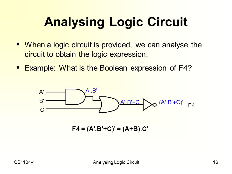 Analysing Logic Circuit