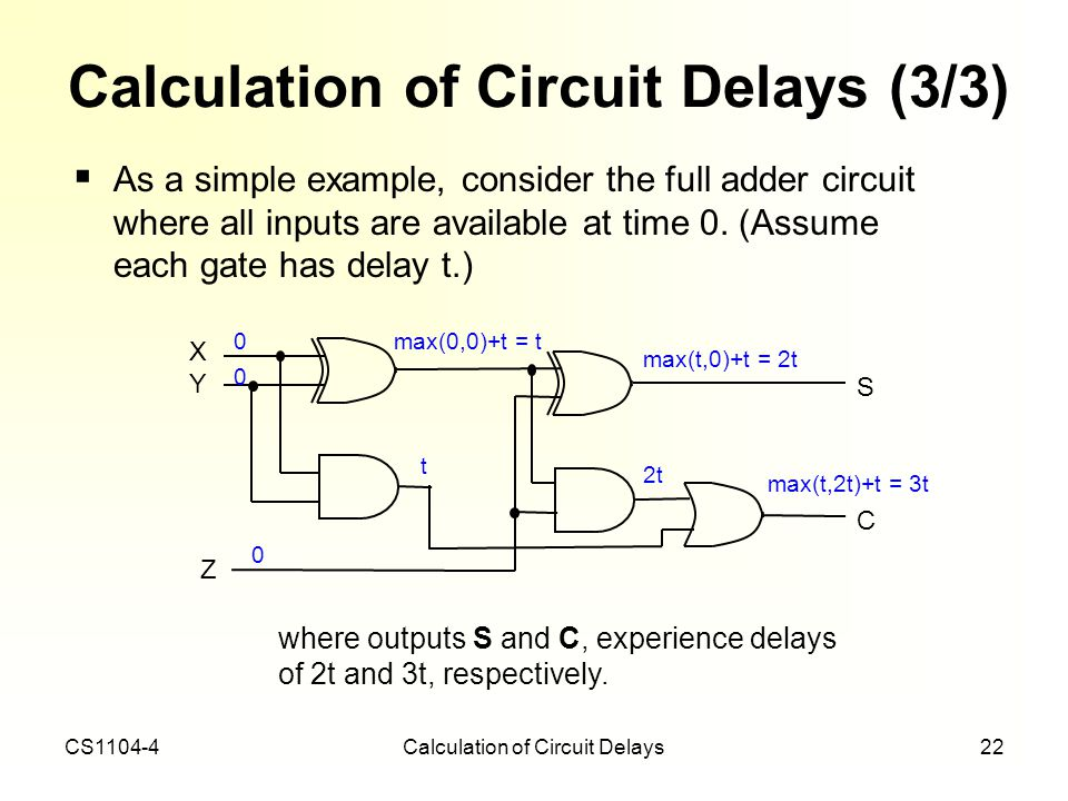 Calculation of Circuit Delays (3/3)