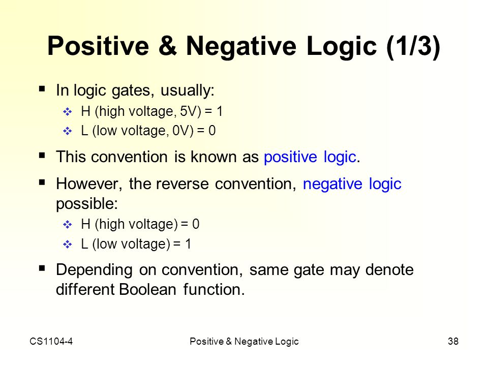 Positive & Negative Logic (1/3)