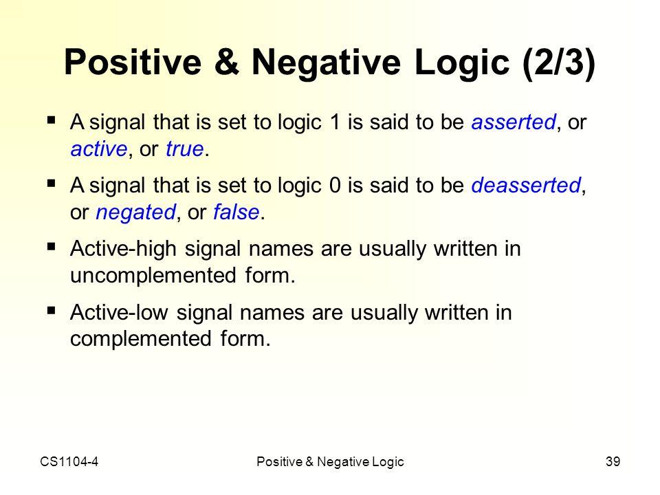 Positive & Negative Logic (2/3)