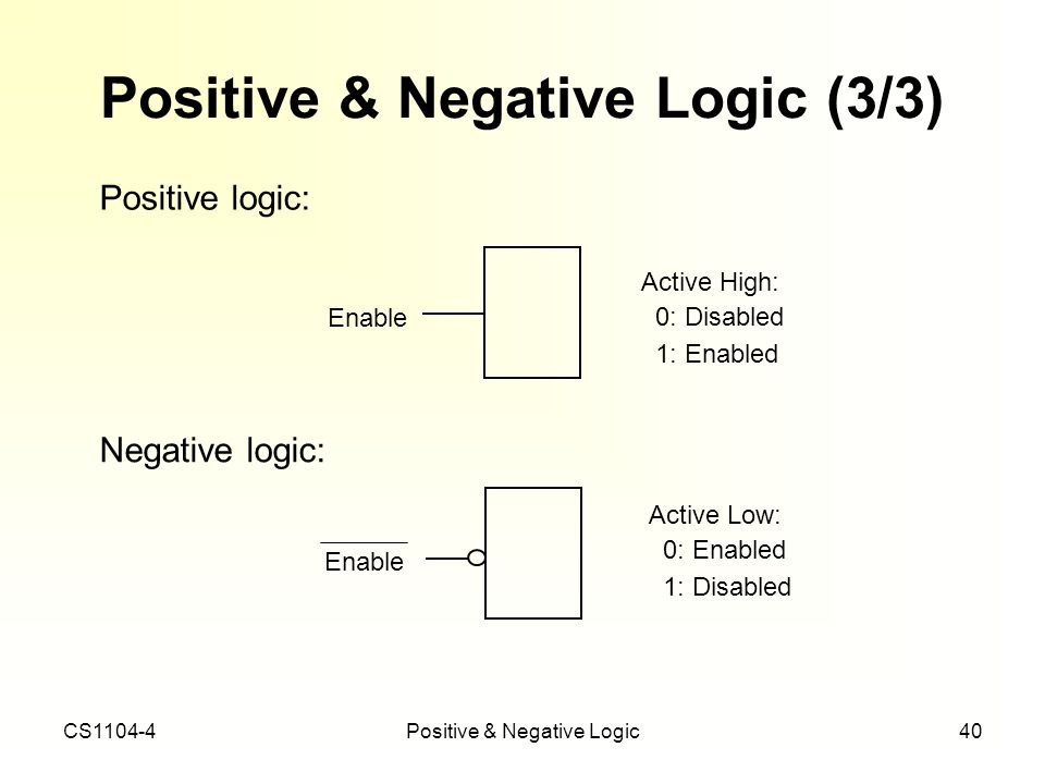 Positive & Negative Logic (3/3)