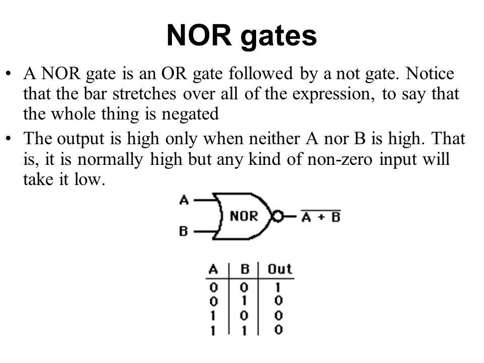NOR gates