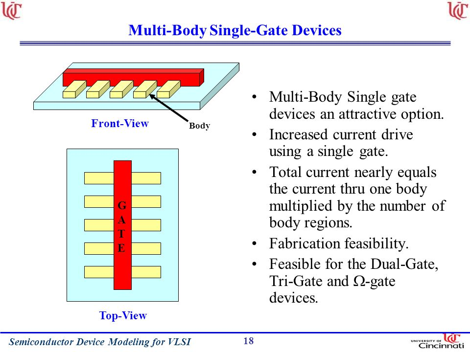 Multi-Body Single-Gate Devices