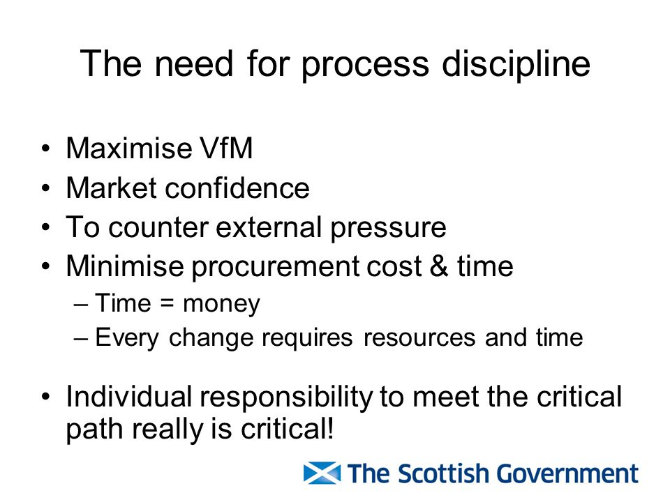 The need for process discipline