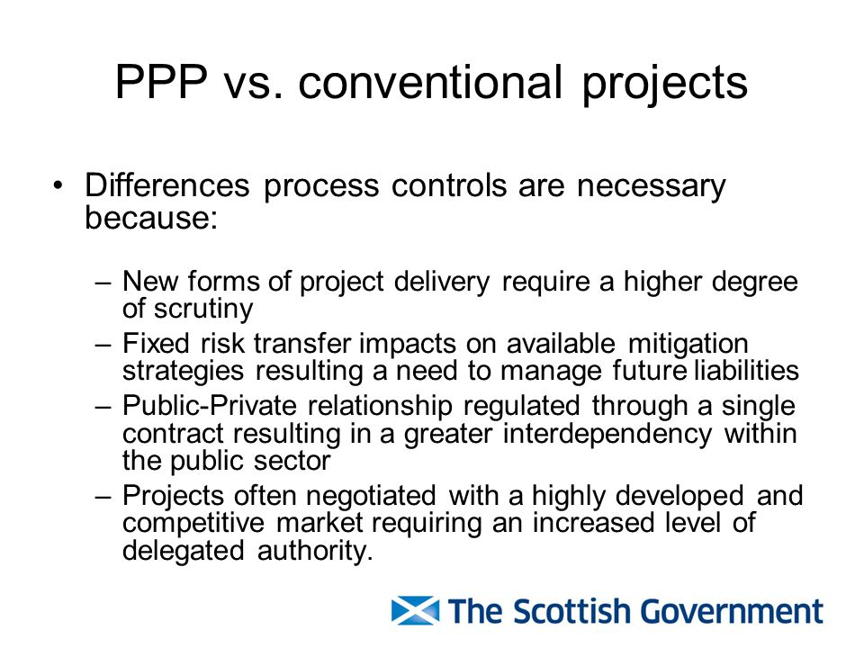 PPP vs. conventional projects