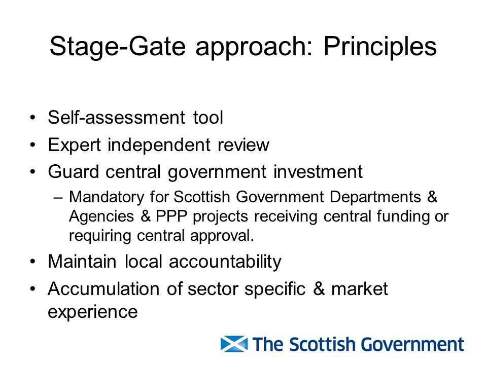 Stage-Gate approach: Principles