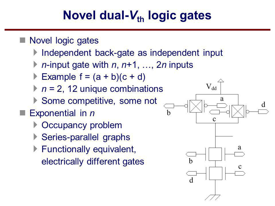 Novel dual-Vth logic gates