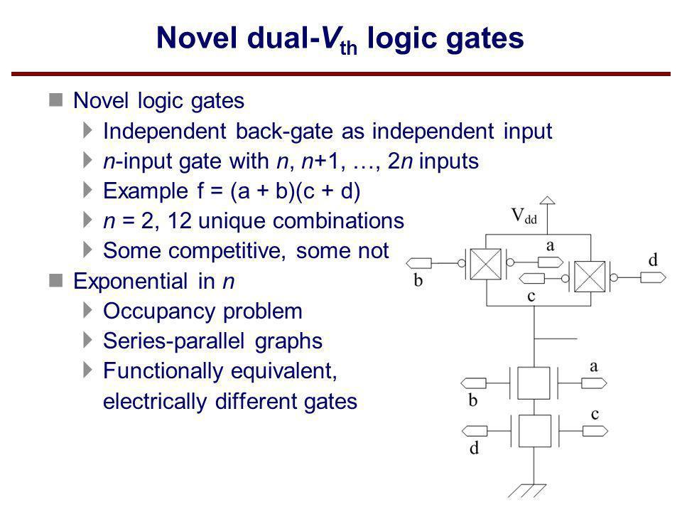 Novel dual-Vth logic gates