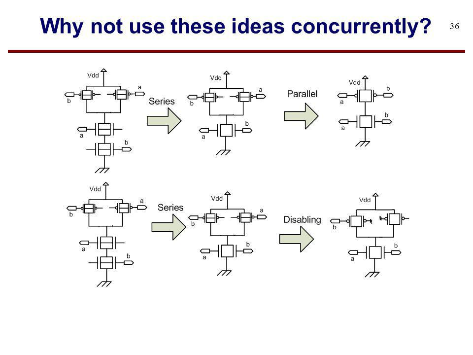 Why not use these ideas concurrently