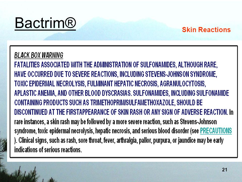 Bactrim® Skin Reactions
