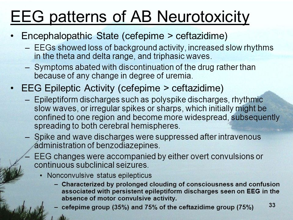 EEG patterns of AB Neurotoxicity