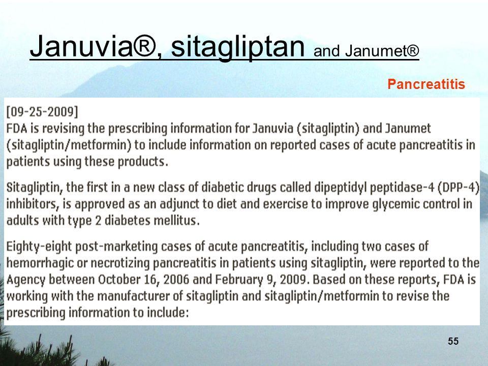 Januvia®, sitagliptan and Janumet®
