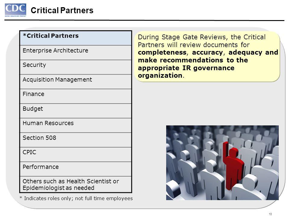 Critical Partners *Critical Partners. Enterprise Architecture. Security. Acquisition Management.