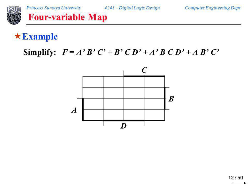 Four-variable Map Example C 1