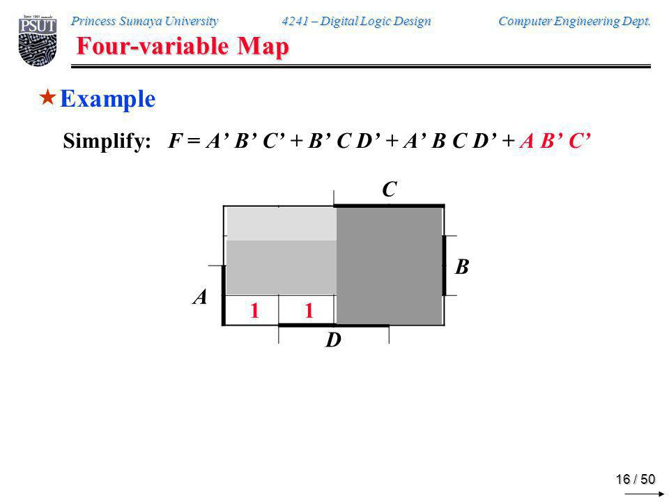 Four-variable Map Example
