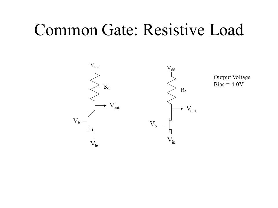 Common Gate: Resistive Load
