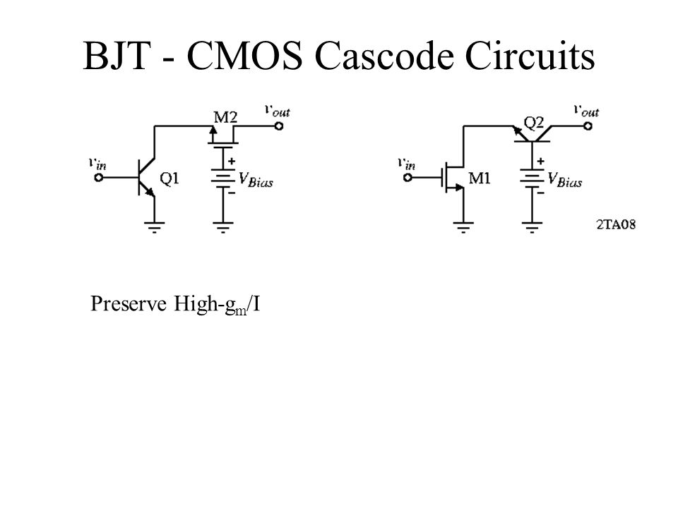 BJT - CMOS Cascode Circuits