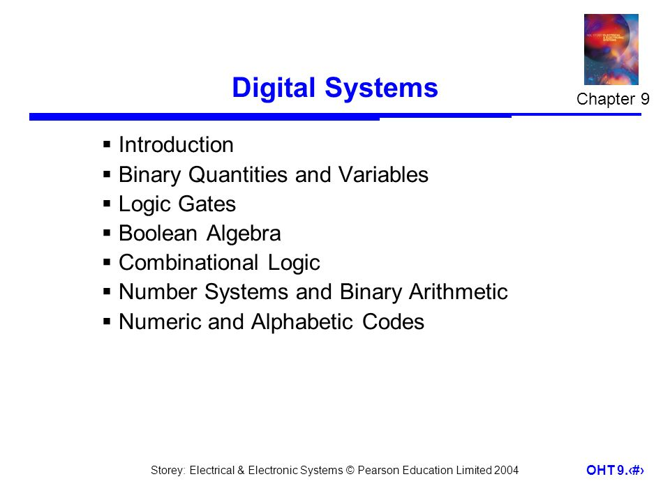 Digital Systems Introduction Binary Quantities and Variables