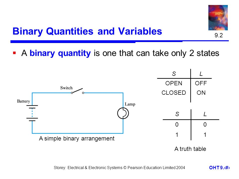 Binary Quantities and Variables