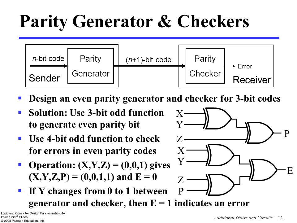 Parity Generator & Checkers