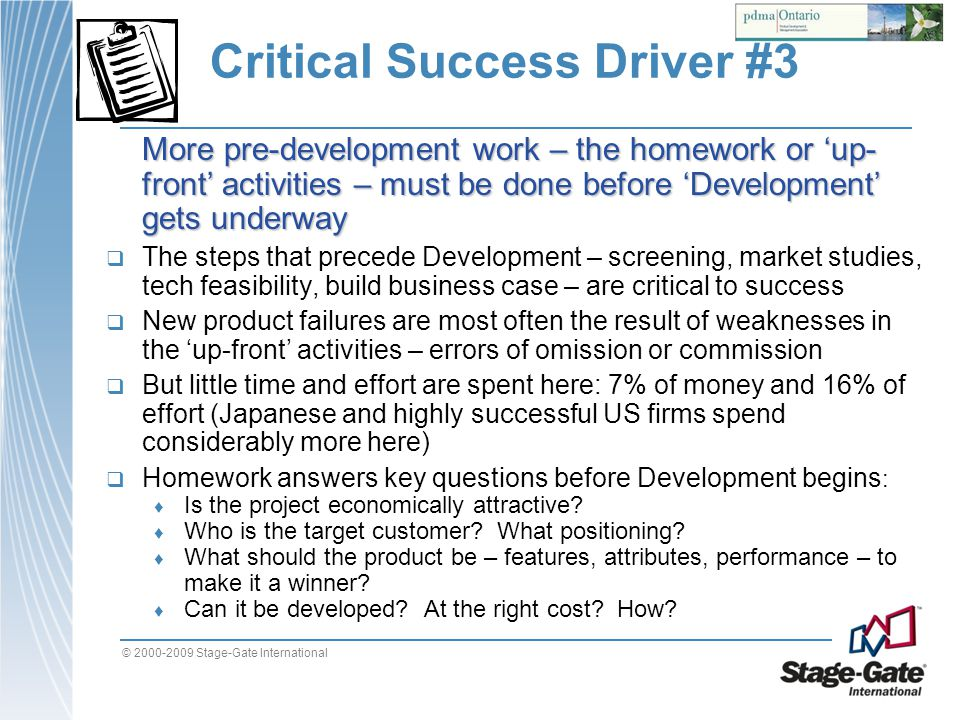 Critical Success Driver #3
