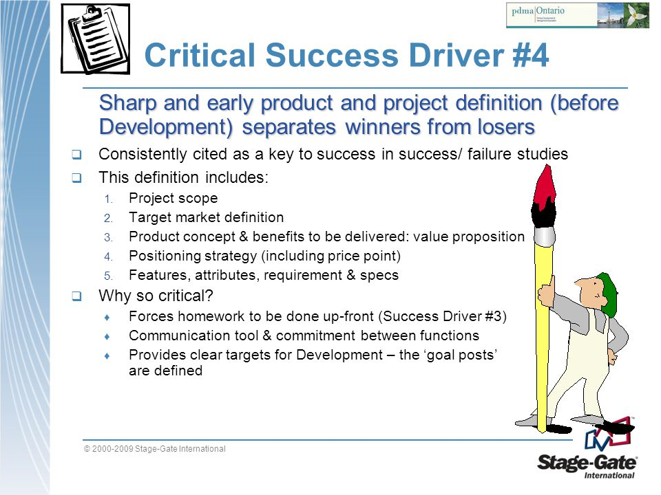 Critical Success Driver #4