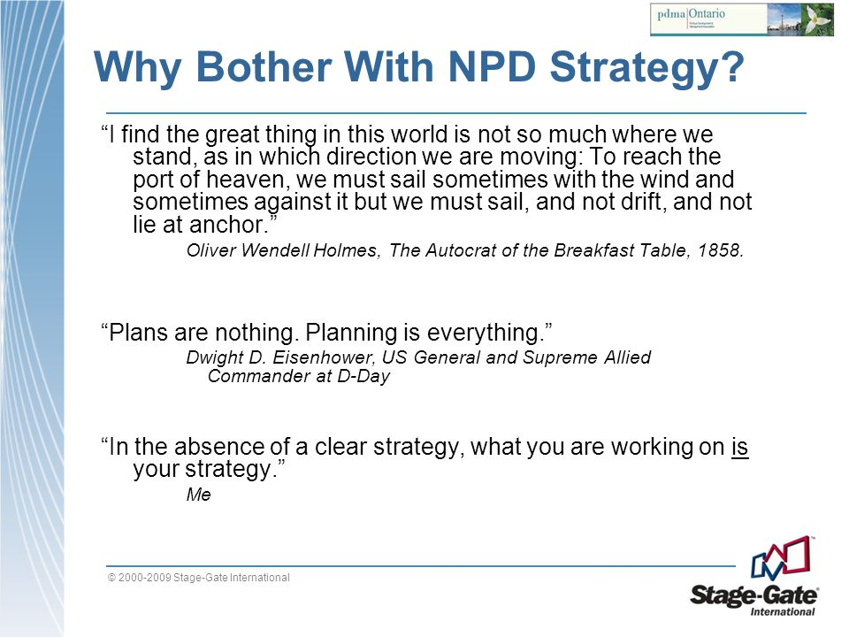 Why Bother With NPD Strategy