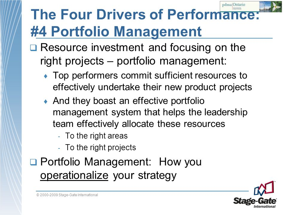The Four Drivers of Performance: #4 Portfolio Management