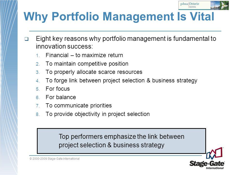 Why Portfolio Management Is Vital