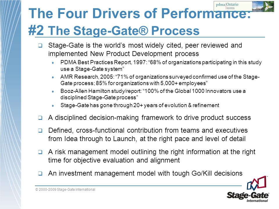The Four Drivers of Performance: #2 The Stage-Gate® Process
