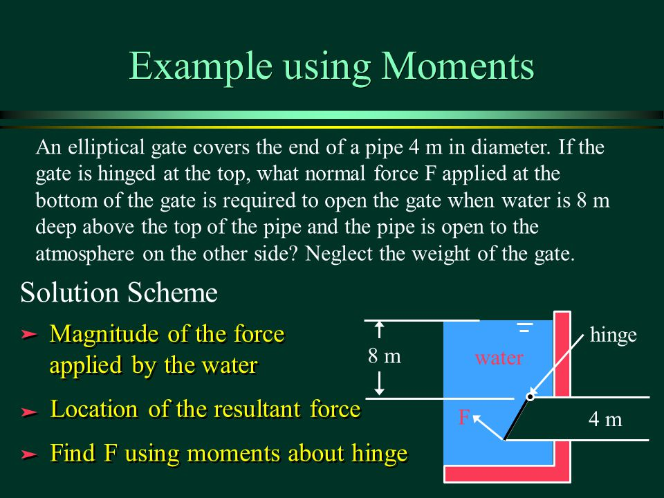 Example using Moments Solution Scheme