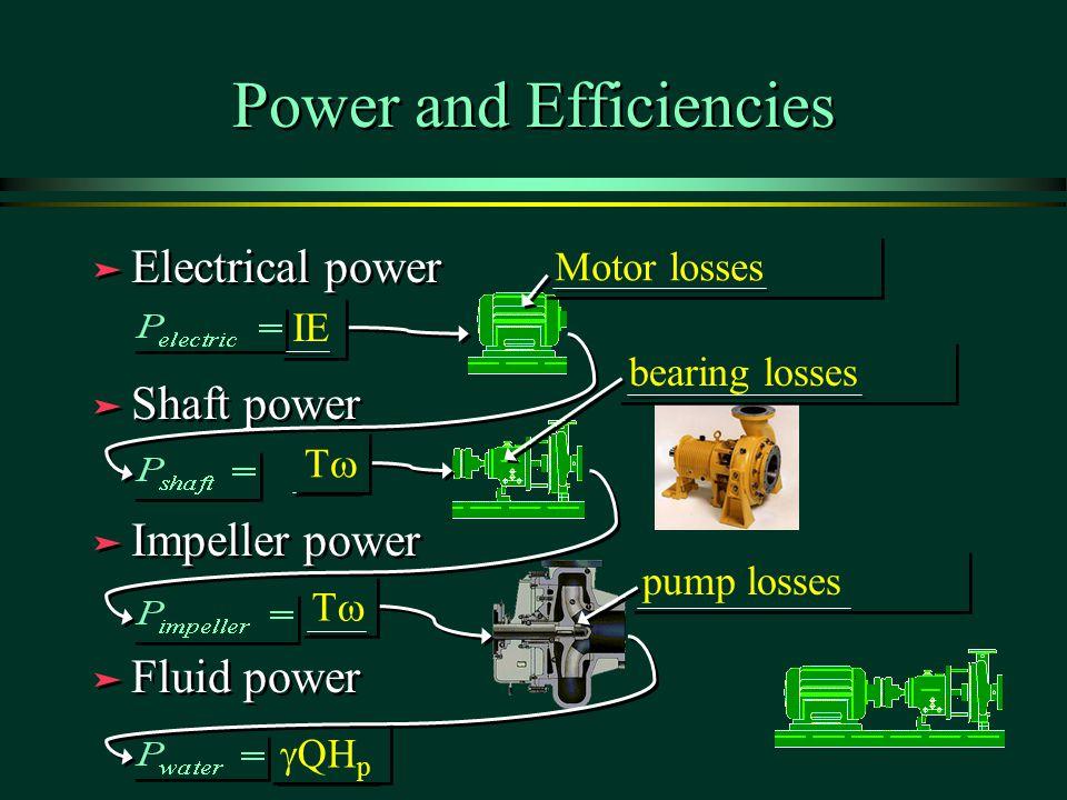 Power and Efficiencies
