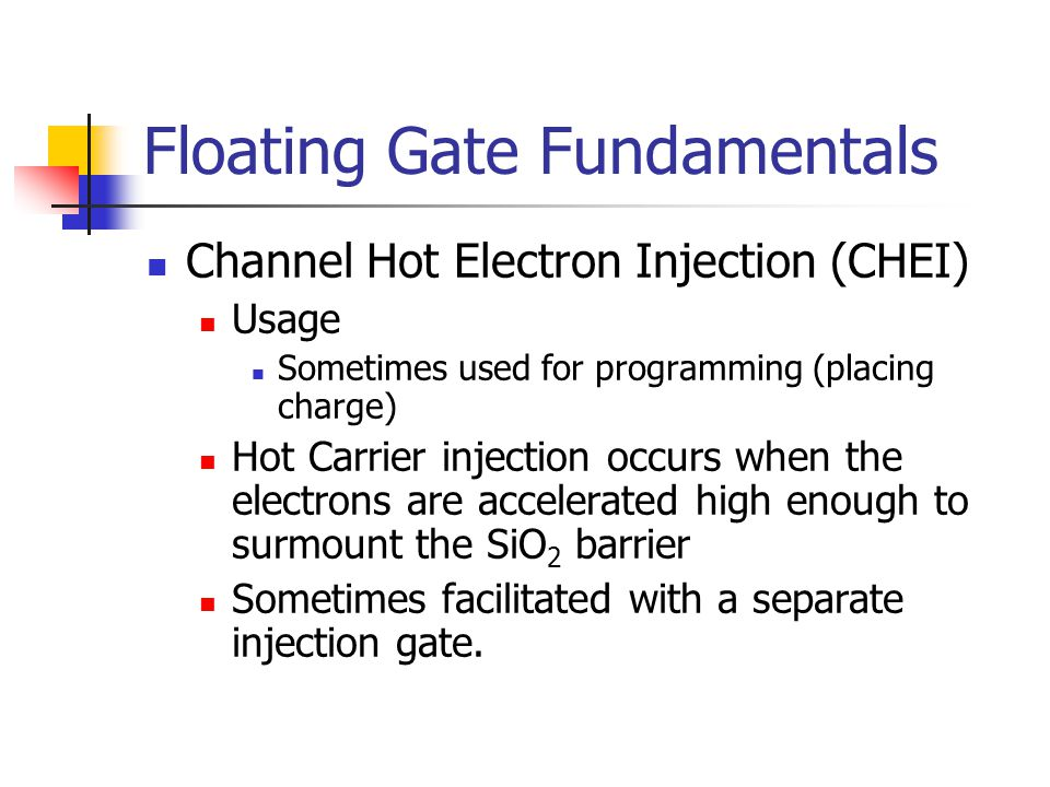 Floating Gate Fundamentals