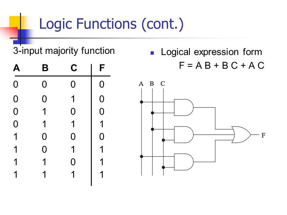 Logic Functions (cont.)