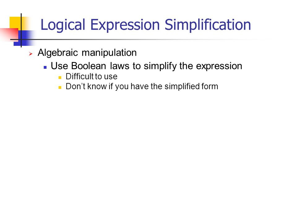 Logical Expression Simplification