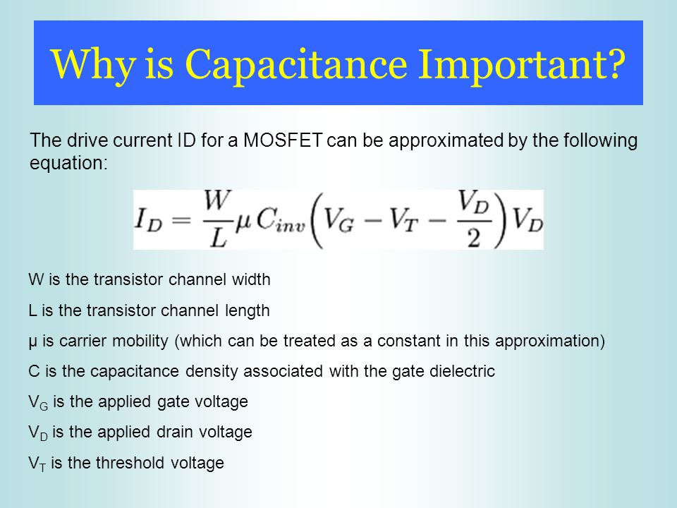 Why is Capacitance Important