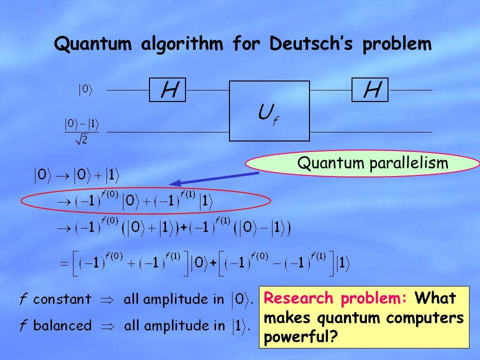 Quantum algorithm for Deutsch's problem