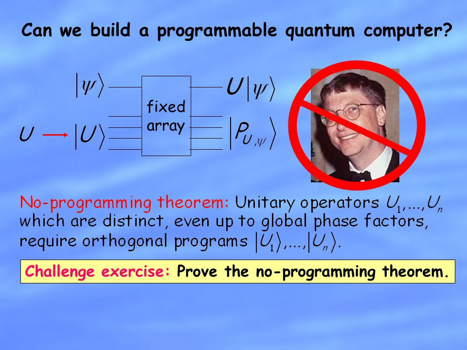 Can we build a programmable quantum computer