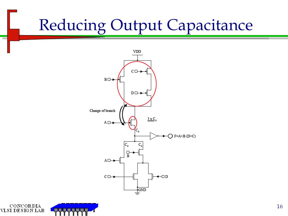 Reducing Output Capacitance
